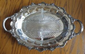 Oval Silver Serving Tray Kitchener / Waterloo Kitchener Area image 1