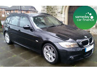 £224.25 PER MONTH BLACK 2012 BMW 318D 2.0 M SPORT ESTATE MANUAL DIESEL