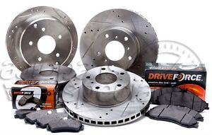 Holden-Commodore-VT-VU-VX-Slotted-Drilled-Front-Rear-Disc-Brake-Rotors-Pads