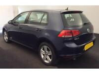 2016 BLUE VW GOLF 1.6 TDI 110 MATCH EDT DSG DIESEL 5D HATCH CAR FINANCE FR £46PW