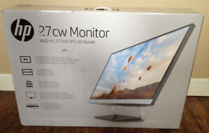 HP 27CW 27-Inch IPS LED Backlit Monitor (NEW Box not opened)