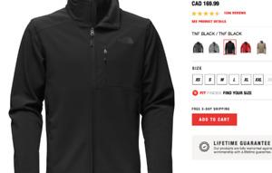 MANS XL BLK   NORTH FACE JKT - FREE HARRY ROSEN DRESS XL SHIRT