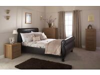 *SALE* BRAND NEW FACTORY SEALED - Chicago Brown Sleigh Bed £279.99