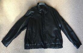 Men's Black Jacket genuine leather fits 47-54 inch chest