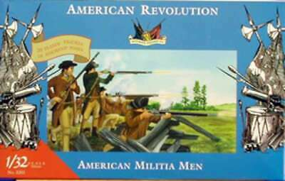 Imex 3201 Revolutionary War American Militia Men 20 1/32 761963032018