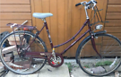 Raleigh Cameo Unisex Dutch City Town Burgundy Bicycle Bike. Vintage
