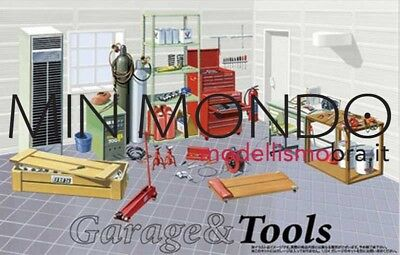 KIT GARAGE TOOLS SET ATTREZZI E ACCESSORI PER OFFICINA 1/24 FUJIMI 11505 115054