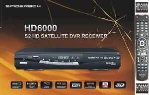 Spiderbox 6000 HD PVR Brand New with My Latest Channel List and Free Flash Drive