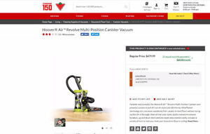 Hoover Air Revolve Multi-position Canister Vacuum