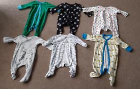 0-3 month baby boy clothes bundle 58 items