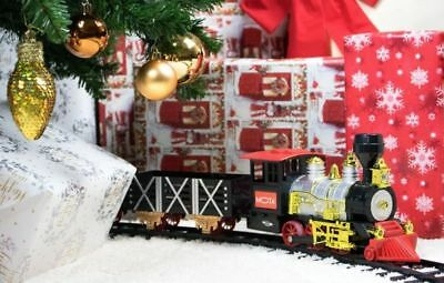 Mota Classic Holiday Christmas Train Set With Sound, Lights & Smoke - Open Box