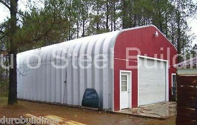 Durospan Steel 25x30x13 Metal Building Diy Home Kit Open Ends Factory Direct