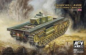 AFV Club AF35259 1/35 Churchill Avre with Snake Launcher (Bonus Figure)