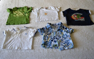 Size 0 - 3 mo. Boys short sleeved shirts and pants, $1.00 each