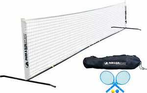 Portable Tennis Net Set with Carrying Bag and Accessories