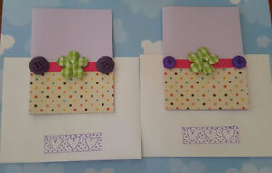 A Pair of Cute Flower Cards For Sale!