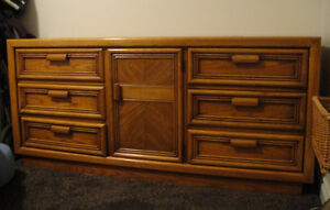 Solid Oak 9-Drawer Dresser - PICK-UP TODAY (6TH) FOR $80