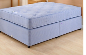 Divan beds' a double and a single bed with spring mattress