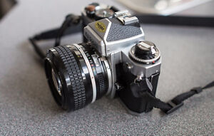 Nikon FE with 50mm 1.2 ais Excellent ++ Condition Williams Lake Cariboo Area image 9
