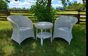 Antique Wicker Chairs & Table