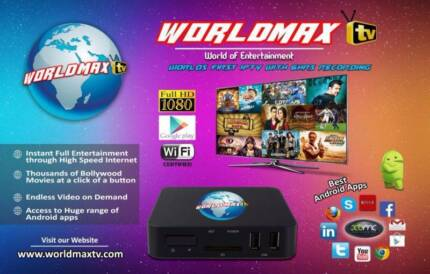 WorldMAX Quadcore Android Indian IPTV,Hindi,Urdu,Bangla,Nepali TV Carlingford The Hills District Preview