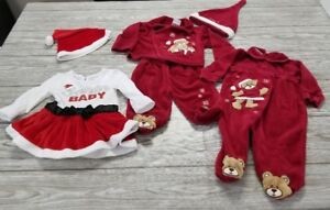 EUC Lot of 3-6 months girls Christmas Holidays outfits