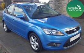 ONLY £101.97 PER MONTH BLUE 2010 FORD FOCUS 1.6 ZETEC 5 DOOR PETROL MANUAL