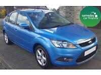 ONLY £101.97 PER MONTH BLUE 2010 FORD FOCUS 1.6 ZETEC 5 DOOR PETROL MANUAL