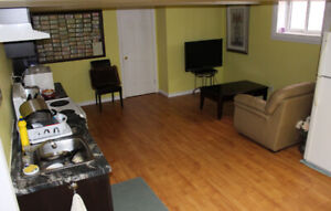 FULLY FURNISHED BASEMENT APARTMENT ROOM
