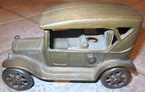 "Antique Cast Iron Toy Car – Stamped ""Made in Canada"""