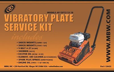 Mbw Plate Compactor Gpap 12 15 And 18 Service Kit Whonda Engine New Style