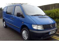 MERCEDES VITO AUTOMATIC 5 SEAT KOMBI CREW GOOD CHEAP BLUE VAN NO VAT 100K