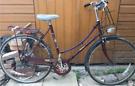 Raleigh Cameo Unisex Dutch City Town Burgundy Bicycle Bike. Vintage