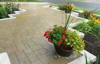 Landscaping and interlocking  brick workers