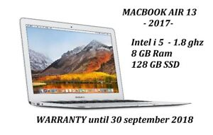 MACBOOK AIR 2017 13'' i5 1.8GHZ 8GB 128GB + Warranty Sept 2018