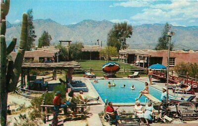 Ranch Lodge (Barra Nada Ranch Lodge 1950s Postcard pool Tuscon Arizona Petley 3991)