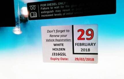 Rego Reminder Stickers (x2 Incl post) - Personalised to Vehicle