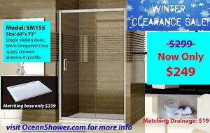 Popular Frameless Sliding Glass Shower Enclosure Clearance Sale