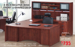 All Commercial Quality Laminate Office Desks and Storage On Sale