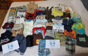 Boys 3-6 and 6-9 month lot