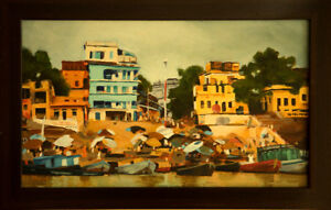 Varanasi, India Study - oil painting by John Musial