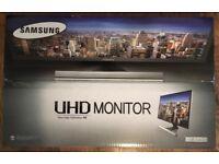 BRAND NEW SAMSUNG 28-Inch UHD 4K LCD/LED Monitor - Black