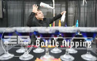 Bottle flipping/fire tricks bartending service