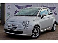 2009 FIAT 500 1.2 SPORT 3 DOOR NEW MOT FULL SERVICE HISTORY HALF LEATHER SEATS H