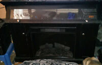 MEDIA CENTER W/BUILT IN FIREPLACE *SERIOUS INQUIRIES ONLY*