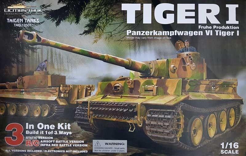RC fähiger detailgetreue Bausatz Panzer Tiger 1 von Taigen 1:16 mit Metallteilen
