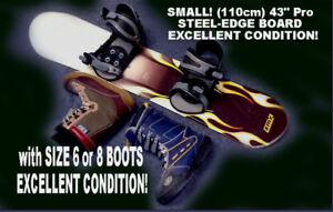 110cm SMALL! but 'Pro' BOARD & BOOTS combo