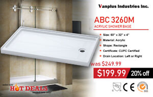 "ABC3260/3060 CUPC Approved 30/32"" * 60"" Shower base for sales"