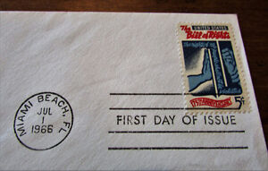 1966 175th Anniversary US Bill of Rights 5 Cent First Day Cover Kitchener / Waterloo Kitchener Area image 3
