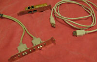 USB Extension Cable and 2  USB Add-on Brackets